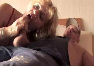 bea dumas and the handy man. hq with nice facial
