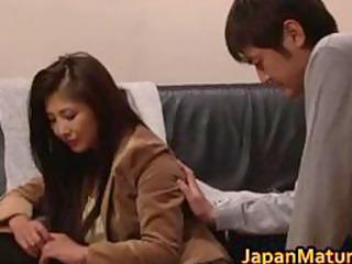 chisa kirishima asian milf gives excellent part1