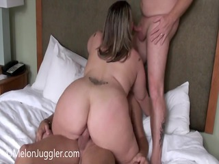 bulky wife does her hubby and his boss
