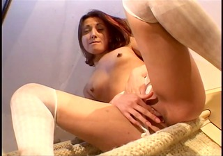 redhead with small tits acquires sexually excited