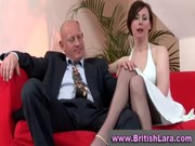 older british lady in stockings is licked by