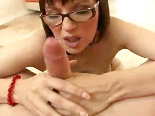 breasty milf with glasses becomes a blowjob doxy