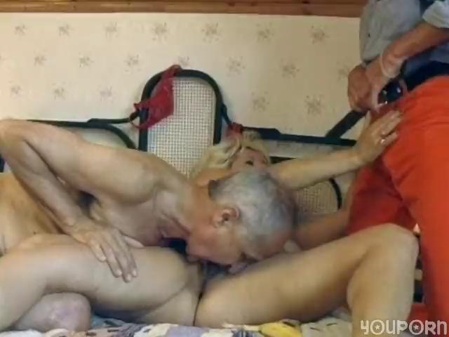 mature german blonde receives double fucked