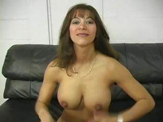 breasty brunette milf titty bonks her boy and