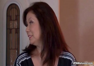 hot and lewd japanese older mama