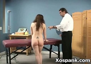 wild naughty gal in excellent spanking aged