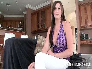 charming lusty milf receives stripped for hot sex