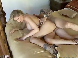 busty golden-haired milf caught white handed (