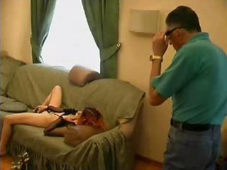 old nasty man catches granddaughter masturbating