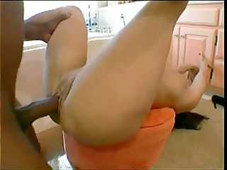 milf is startled by bbc in the bath