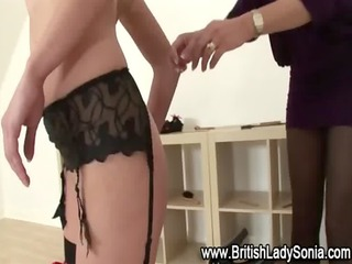 fetish lezdom mature lady sonia spanks babe