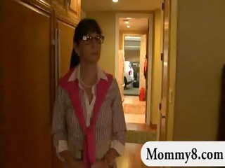 aged stepmom catches legal age teenagers having