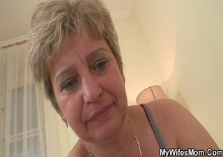 ramrod hungry granny is fucked by son in law