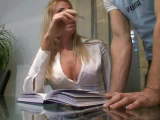 real wife plays his sexually excited secretary