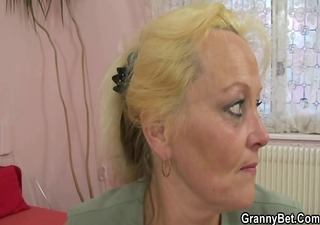 old blonde wench receives screwed