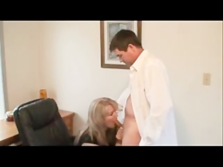 hawt golden-haired in office sex