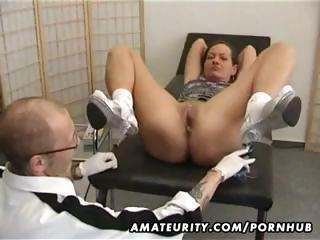 mature amateur wife goes for a checkup and