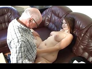 german grandpa makes juvenile cutie horny
