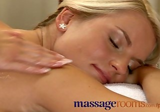 massage rooms breasty aged woman oiled by