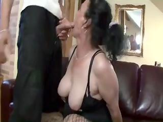 breasty dark brown granny acquires naughty love