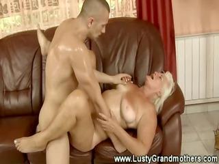 old amateur grandma riding a dick