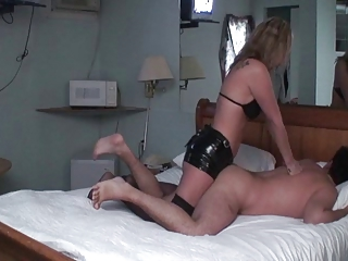 wife goddess pounds husbands ass with ding-dong