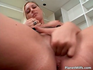 slut likes large rubber sex toys but she is