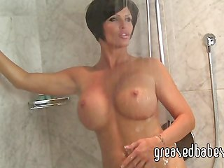 breasty mother i shay fox bathes in the shower
