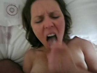 sexy wife drink her mans load