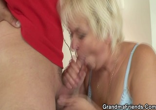 old blonde pleases chaps