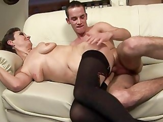 hot milf takes a juvenile man in her mouth until
