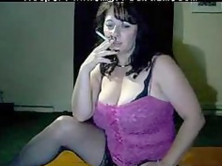 breasty mom tells you to cum while she is smokes