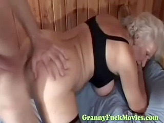 106yo granny drilled from behind
