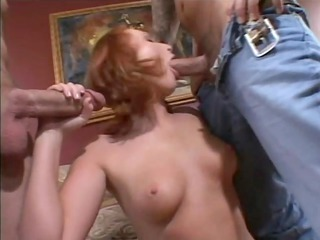 mother i redhead receives a double dicking-