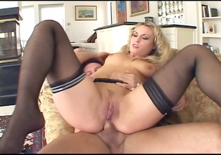 golden-haired has perverted anal sex in haunch