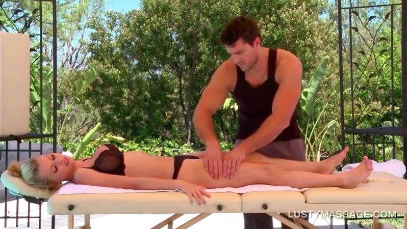 busty blonde gets her hot body massaged sensually