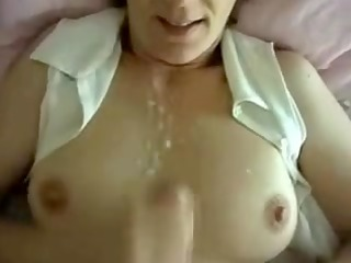 horny wife private cumshot on scones