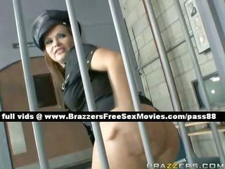 fascinating redhead prison guard