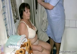 naughty old lady gets her shaggy cunt part10