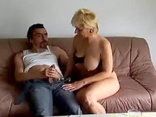 crazy old mama receives screwed hard and
