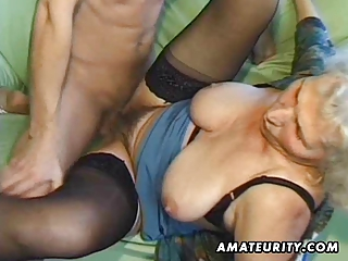 old amateur aged wife sucks and copulates with