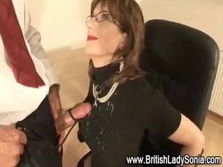 british milf blowjob cumshot