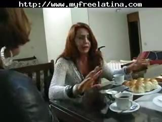 mature brazilian redheaded mamma receives