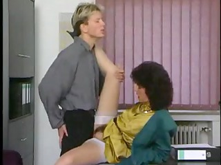 mature secretary gets drilled