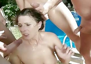 granny in bizarre pissing and fellatio action