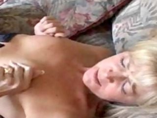 impure mom in nylons receives her cookie licked