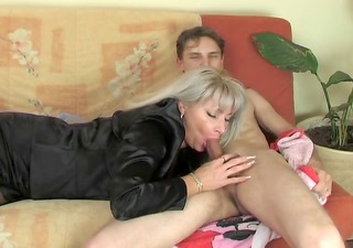 hot mature in nylons receives fucked by a younger