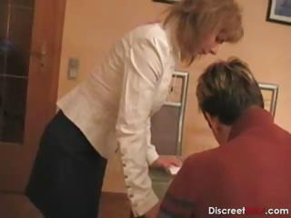 hot german mama teaches boy