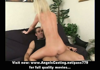 innocent naked blonde riding cock and receiving