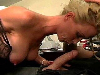 gorgeous milf with large scoops gives out office